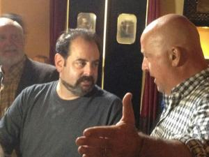 Yah-- that's me with a short beard being interviewed by Andrew Zimmern. Although my interview hit the cutting room floor, it was an honor to chat with him during the filming of one of our events for Bizarre Foods America at Parallel Seventeen. I basically told him just about everything I've written to you in this post.